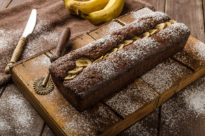 56218548 - homemade banana bread wholemeal with dark chocolate