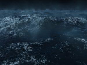 10802691 - ocean scape, dark and heavy seas in the north atlanticc.